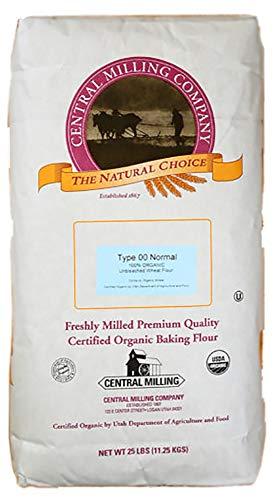 Central Milling Type 00 100% Organic Pizza Flour, 25 lb.