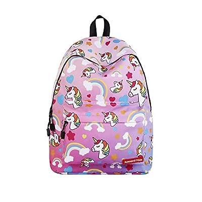 Blanketswarm Mochila de unicornio para niños, unisex, ligera, de gran capacidad, para viajes, acampadas, casual, colegio, para adolescentes, estudiantes. rosa rosa 40*17*30 cm