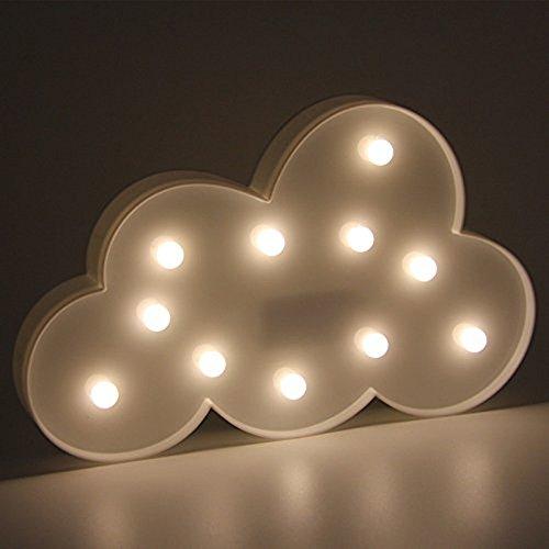 Kreative 3D Einhorn Nachtlichter Schmetterling Nacht Lampen Einhorn Schlummerleuchten (Wolke 1)