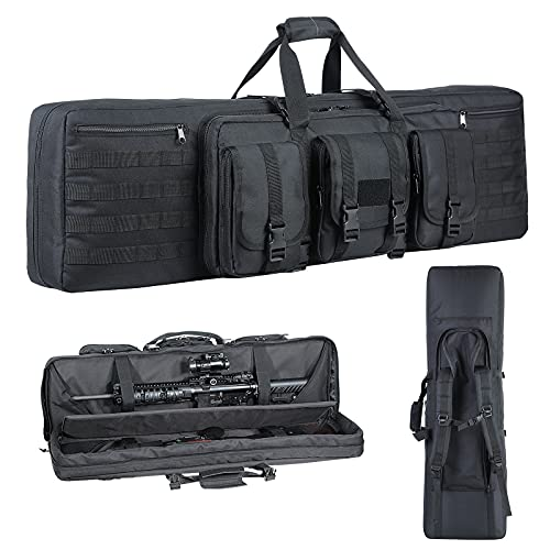 G GATRIAL Soft-Rifle-Case Tactical Double-Rifle-Pistol Bag Long-Gun-Case - Lockable 38 42 Inch American Classic Tactical Gun Bag Perfect for Rifle and Pistol Storage or Transportation Black-42