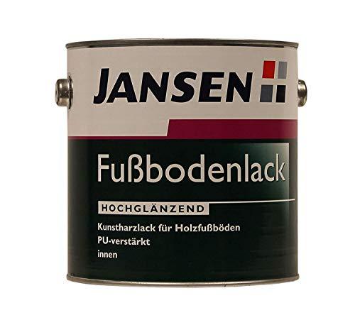 Jansen Fußbodenlack Hochglänzend Kunstharz Innen 0,75 Liter Farbwahl, Farbe:Grau