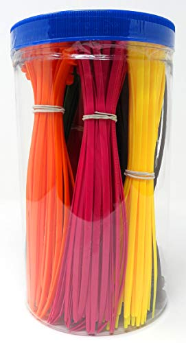 450 Kabelbinder 20 cm x 4.8 mm 9 farben bunt