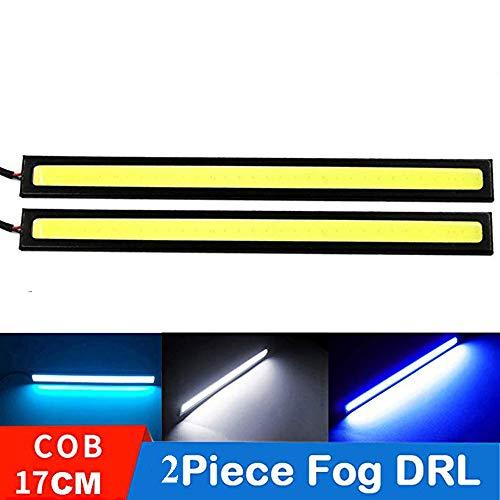 YSY 17cm Universal Car Trucks Daytime Running Light Lamp Super Bright 12V Waterproof LED Strips COB DRL Car Led Fog Light (Ice Blue)