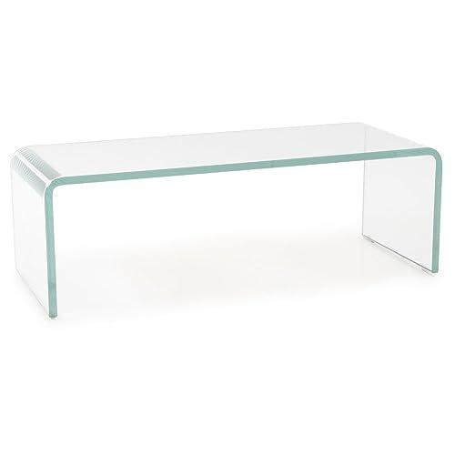 TV-Schrank Glasaufsatz Monitorerhöhung Glas Glastisch 60cm Ablage Unter-Schrank