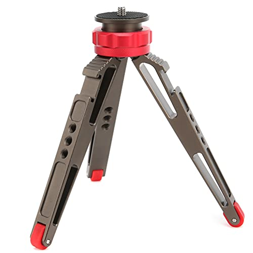 Zhat Treppiede da Tavolo Fill Light, treppiede da Tavolo Vite Portatile da 1 4 di Pollice per Fotocamere mirrorless per Fotocamere Sportive per Fotocamere SLR