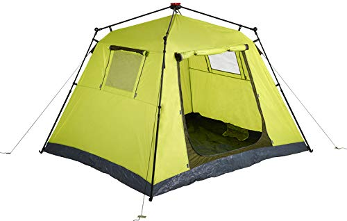 Clas Ohlson  Instant 4-Man Tent, Quick Pitch and Pack System, 1 minute Set Up Camping and Outdoors - Green