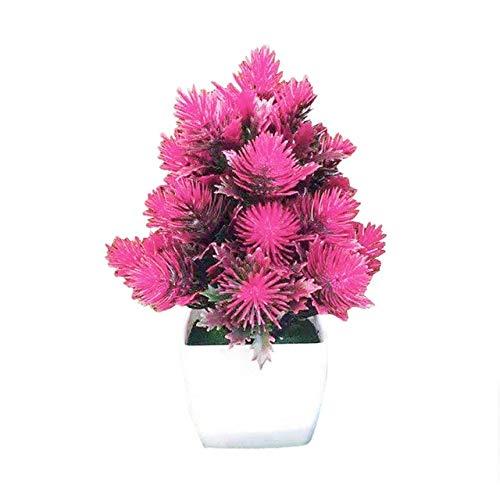 GETSO Künstliche Blumen Pflanzen-Kiefern-Nadel-Bonsai-Garten-Party-Desktop Ornament Dekor aus hochwertigem Material, naturgetreuen mit