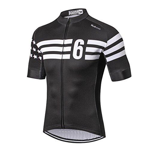 Weimostar Herren-Fahrradtrikot, Mountainbike-Trikot für Herren - Braun - Etikett L /Brust 95/100 cm