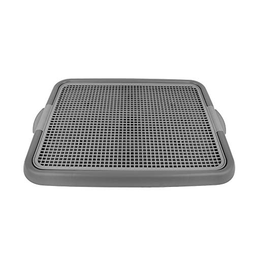 Firstco Mesh Training Toilet Potty Tray for Puppy and Small Size Dog 20.3 x 16.3 x 1.2 inch (Gray+Gray)
