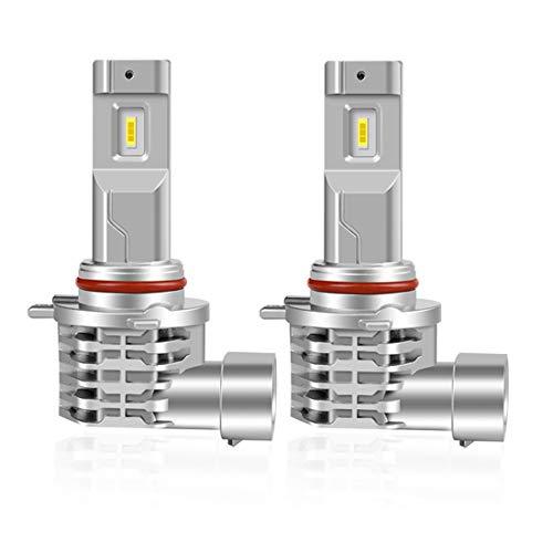 XELORD Bombillas Hir2 9012 LED Coche Faro 6500k Blanco LED Lámparas,Reemplazo De Luz Halógena y Faros De Xenón(2pcs)