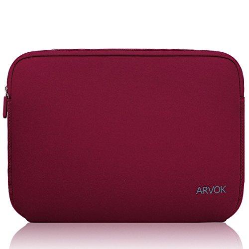 Arvok 13 13,3 14 Zoll Laptoptasche Schutzhülle Wasserdicht Neoprene, Laptop Sleeve Case Laptophülle Notebook Hülle Tasche für Acer/Asus/Dell/Fujitsu/Lenovo/HP/Samsung/Sony, Wein Rot