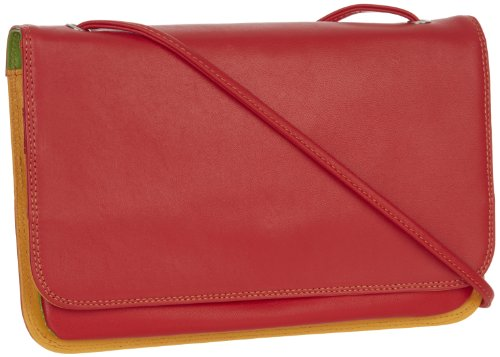 mywalit Damen Full Flap Multicomp Shoulder Clutch, rot