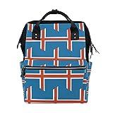 Mochila de viaje con bandera de Islandia para mamá, bolsa de pañales para el cuidado del bebé, gran capacidad