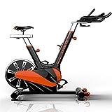 Yingm Bicicleta de Spinning Fitness Indoor Pantalla aeróbico Estudio Entrenamiento Ejercicio Bici del LED Home Fitness Sala de Altas Prestaciones 11KG del Volante Sigue Moviendote