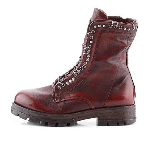 AS98 | Airstep | 549206 Stiefelette Kalbsleder | Nieten Leder Sequoia, Farbe: rot (38 EU)