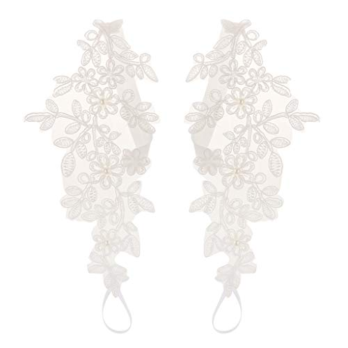 Colcolo Boda Sandalias Descalzas Cordón Tobilleras Pie Cadena Mujer - Blanco