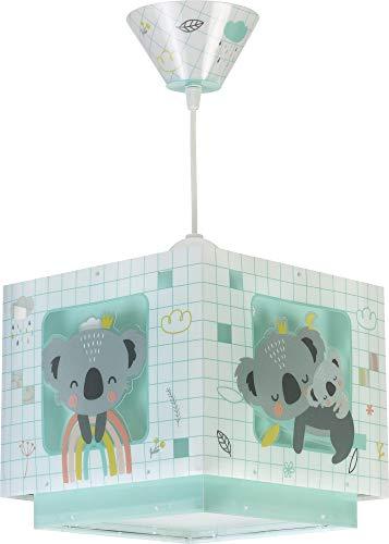 Dalber 63262H Lampe Suspendue Koala Vert, Polypropylène