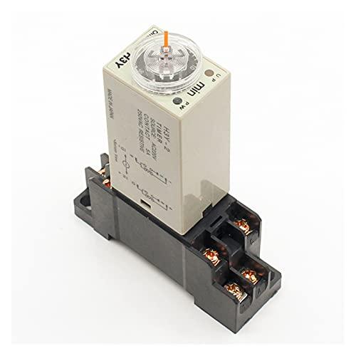 Jgzwlkj Relé PC 1 H3Y-2 AC 220V Relaje de Tiempo del Temporizador de retardo 0-30 Minutos/Segundos con envío Libre de Base (Size : 0-30 Minute)