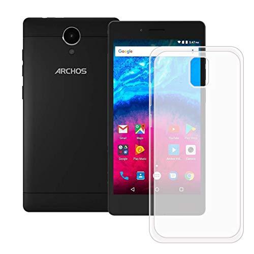 DQG Anti-Fall Schutzhülle für Archos Core 50 Hülle, Weiche Flexibel Handytasche Semi-Transparent TPU Handyhülle Silikon Tasche Schale Case Cover für Archos Core 50 (5.0
