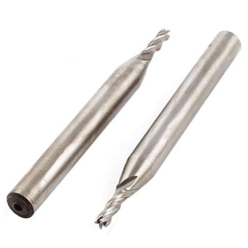 sourcingmap® 2,5mm Schneidmesser 6mm gerader Schaft 4 Flöte HSS Schaftfräser CNC Bohrer 2stk DE de