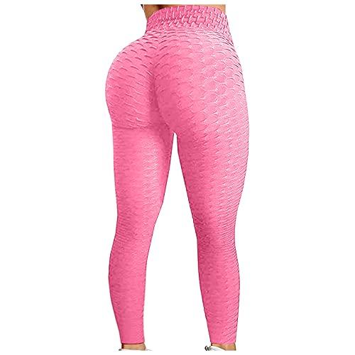 QTJY Leggings de Ejercicio Push-up, Leggings de Cintura Alta para Mujer, Pantalones de Yoga de Cintura Alta sin Costuras para Correr en el Gimnasio IS