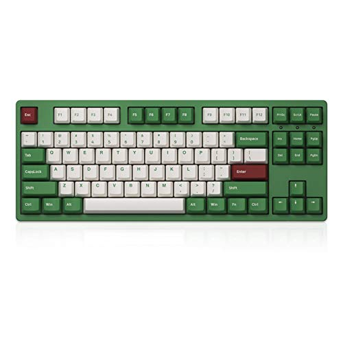 Akko 87-Key TKL Wired Mechanical Gaming Keyboard, Matcha Red Bean Themed Programmable Keyboard, PBT Doubleshot Keycaps and Anti-Ghosting (Gateron Pink Linear Switch)