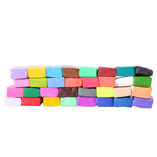 24/32 colores opcional interesante arcilla de modelar polímero, arcilla de juguete, alta dureza para niños Entrenamiento de habilidades Fabricación de juguetes Comunicación(32)