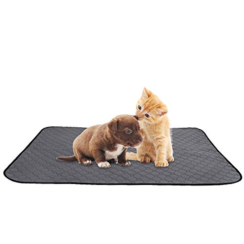 SlowTon Washable Dog Pee Pad, Reusable Waterproof Doggy Cats Potty Mat Super Fast Absorbent Comfortable Unscented No Leak Slip Housebreaking Training Whelping Travel Mat (M, 1 Pack)