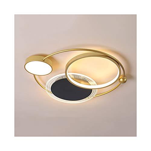 & Lamparas de techo Lámpara de techo del comedor, moderna Minimalista Lámpara de dormitorio de hierro forjado Minimalista Balcón redondo Sala de estudio Nordic Inicio Iluminación [Clase de energía A +