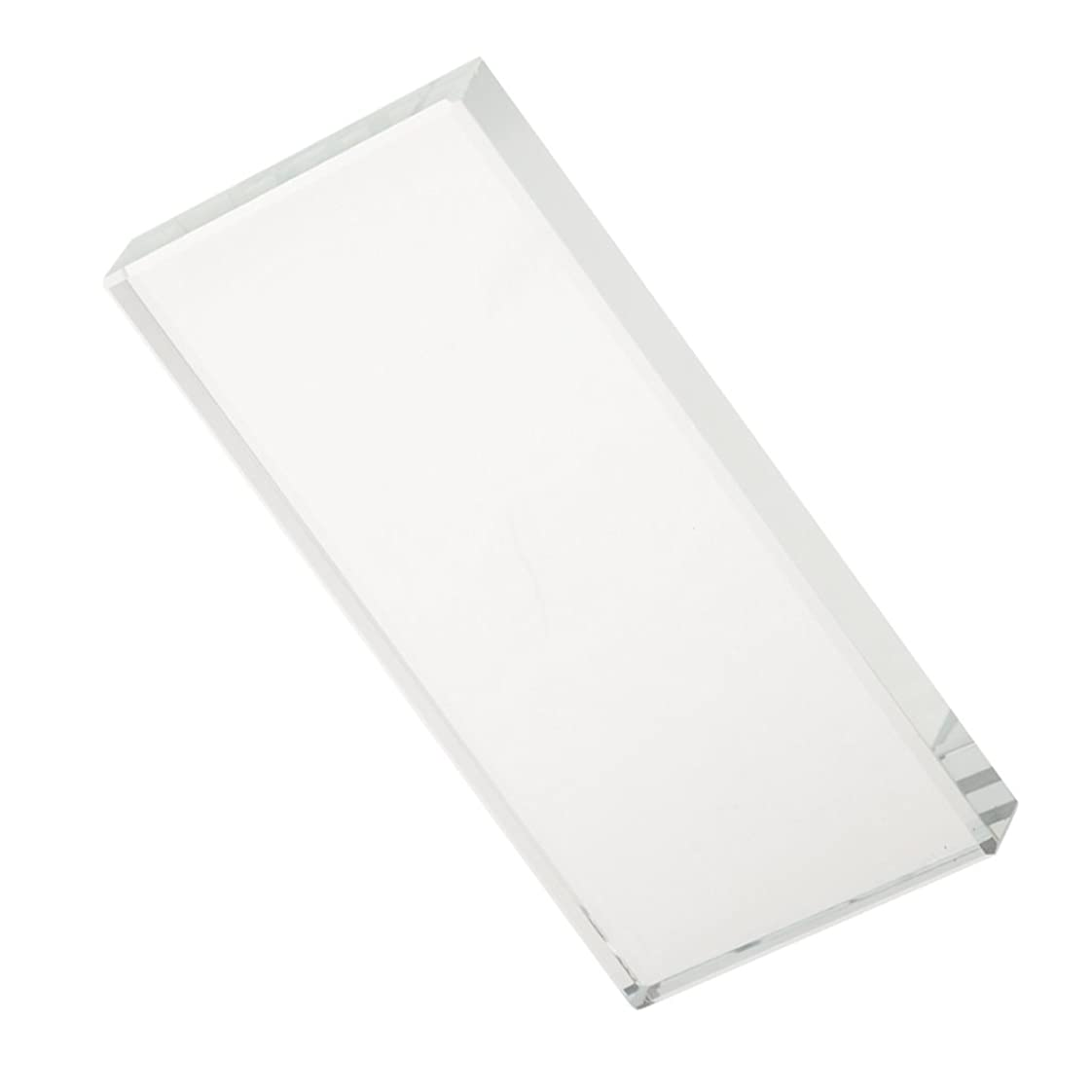 毒エンティティ支出美容ツール クリスタル パレット ホルダー まつげエクステンション 接着剤 - 長方形