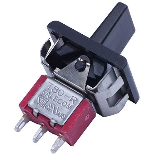 SNOWINSPRING AC 250V / 3A 125V / 5A MomentáNeo SPDT 3 Posiciones Interruptor de Palanca T80-R