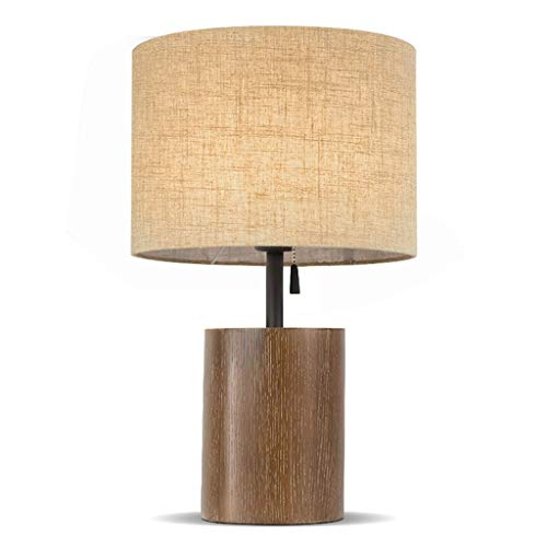 HXMSXROMIDA Lámpara de mesa Lámpara de mesita de noche Lámpara de escritorio de madera maciza de estilo japonés moderno nórdico americano moderno simple