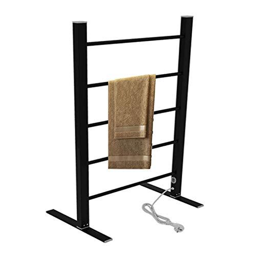 GJXJY Handtuchwarmer elektrisch stehend, 5 Stangen Handtuchhalter, Handtuchheizkörper mit 100W geringem Verbrauch, Handtuchheizung mit konstanter Temperatur für HaushaltEU Plug-Black