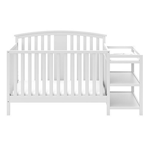 Storkcraft Greyson 4-in-1 Convertible Crib and Changer, White