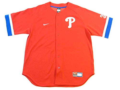 Nike Roy Halladay Philadelphia Phillies Fan Button-up Jersey (Large) Red