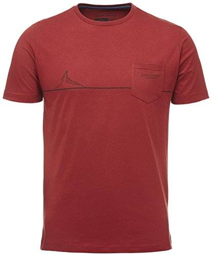 Black Diamond M SS Tower Tee T-Shirt pour Homme XL Rouge (Red Oxide)