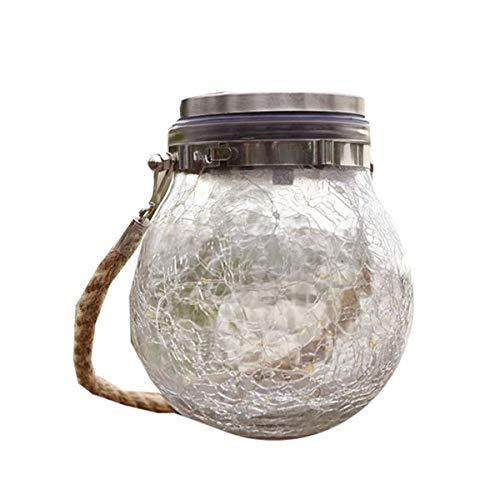 LEDソーラーライト ガラス ガーデンライト 屋外 防水 照明 おしゃれ 電球色 屋外 防水 ソーラー充電式 自動点灯 電気不要 LSOUSOU