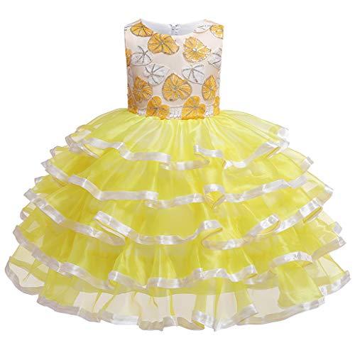 Vestido de Malla Vestido de Lazo Vestido Disfraz de Anfitrión Infantil Mujer Mullida Niño Bowknot Lace Princess Vestido de Princesa Falda de Pastel Vestido