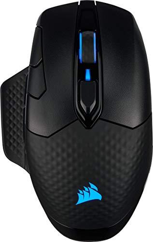 Corsair Dark Core RGB Pro, Draadloze/Bedrade Gaming Muis (18000 DPI Sensor, Snelle responstijd, 8 programmeerbare knoppen, Dynamische iCUE RGB verlichting) Zwart