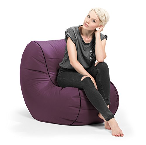 SITTING POINT only by MAGMA Sitzsack Scuba Chilly Bean aubergine (Outdoorgeeignet)
