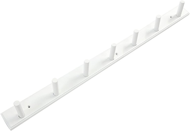 SUNSHINE Wall-mounted Hanger Bedroom   Living Room Bamboo Linked Coat Rack (4 5 6 7 8 Hook Optional) ( color   White , Size   7 hooks )