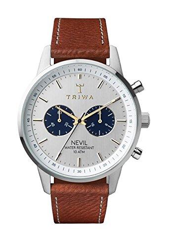 Triwa Unisex Erwachsene Chronograph Quarz Uhr mit Leder Armband NEST116-010212
