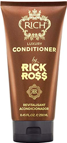 RICH by Rick Ross Luxury Conditioner for Men with All Hair Types - Restores moisture & Rejuvenates Dry Hair - Paraben, Sulfate & Mineral Oil Free, 8.45 Fluid Ounces
