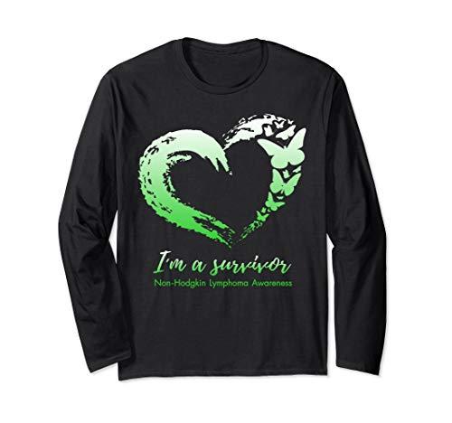 I'm Survivor Non-Hodgkin Lymphoma Awareness Green Ribbon Long Sleeve T-Shirt