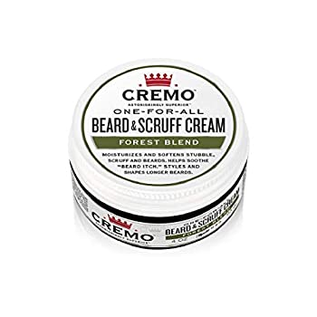 Cremo Forest Blend Beard & Scruff Cream Moisturizes Styles and Reduces Beard Itch for All Lengths of Facial Hair 4 Oz