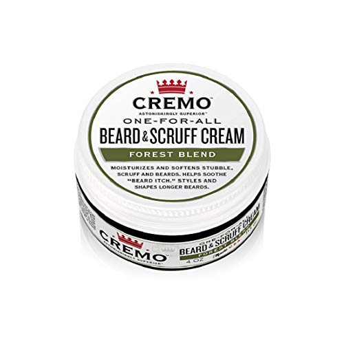 Cremo Forest Blend Beard & Scruff Cream, Moisturizes, Styles and Reduces Beard Itch for All Lengths of Facial Hair, 4 Oz