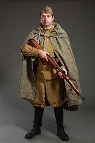 Made in Ussr Poncho Original Soviet Cloak - Soviet Canvas Ussr Canvas - WWII Canvas Soldier Cloak - Russian Army WWII Soviet Army Tent - Type Soldier Field Soviet Raincoat - Russian Cloak Plasch-palatka by KIBS group