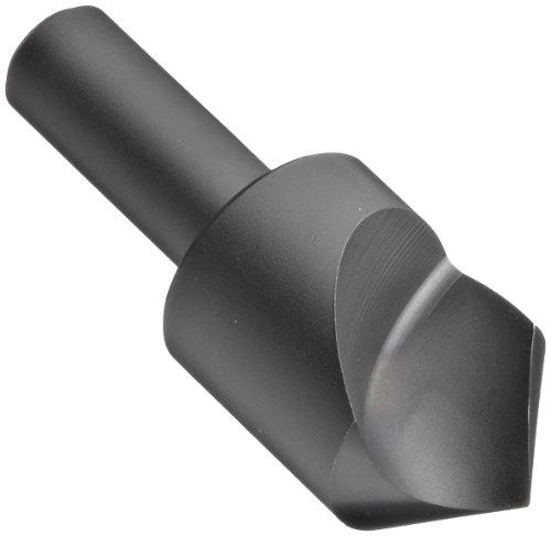 Chicago Latrobe 209SF High-Speed Steel Countersink, Black Oxide Finish, Single Flute, 90 Degrees, Round Shank, 3/8