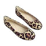 Whale Kri Damen Ballerinas Schuhe Leopardenmuster Rount Toe Damen Slip-on Weiche Mokassins