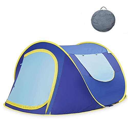 XYZLEO Tente Pop Up Pliable Tente De Camping Double Peau Pas Besoin De Construire 2 S Formant Tente 2 Personnes Poids LéGer ÉPaissir Tente De Camping éTanche Respirant Tente,Bleu